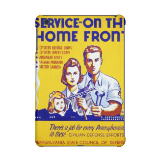 Vintage Service on the Home Front WPA Poster iPad Mini Case