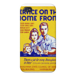 Vintage Service on the Home Front WPA Poster iPhone 4/4S Case