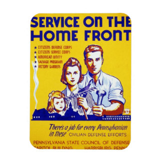 Vintage Service on the Home Front WPA Poster Magnet