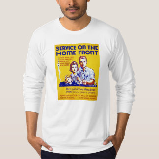 Vintage Service on the Homefront WPA Poster T-Shirt
