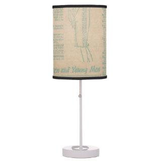 Vintage Sewing Advertisement Blue Desk Lamp