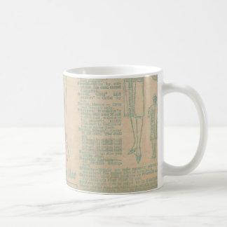 Vintage Sewing Advertisement Blue Mugs