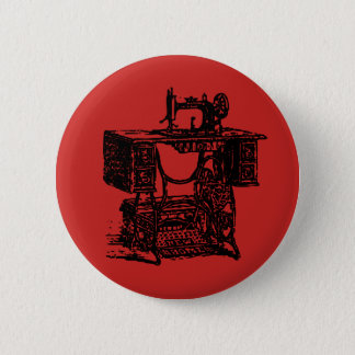 Vintage Sewing Badge Button