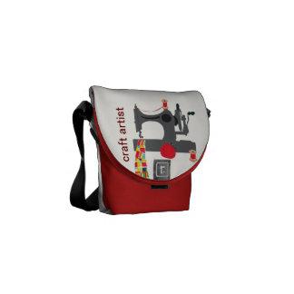 Vintage Sewing Craft Artist Commuter Bag