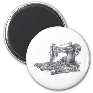 Vintage Sewing Machine 2 Inch Round Magnet