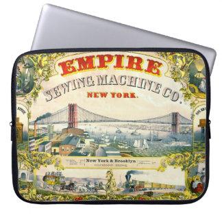 Vintage Sewing Machine Ad 1870 Laptop Computer Sleeves