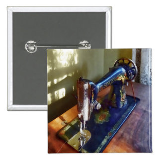 Vintage Sewing Machine and Shadow Button