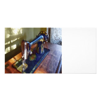 Vintage Sewing Machine and Shadow Card
