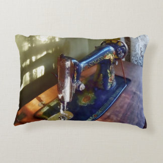 Vintage Sewing Machine and Shadow Decorative Pillow