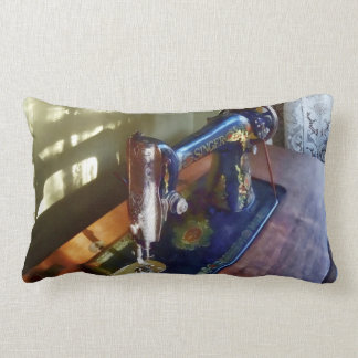 Vintage Sewing Machine and Shadow Throw Pillow
