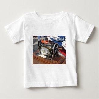 Vintage sewing machine at flea market baby T-Shirt