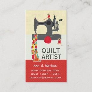 vintage sewing machine bold crafts quilt artist business card - Craft Business Cards