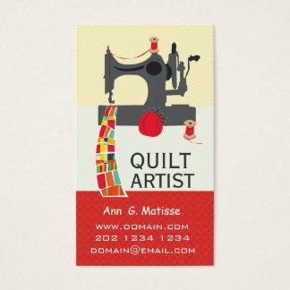 Vintage Sewing Machine Bold Crafts Quilt Artist Business Card