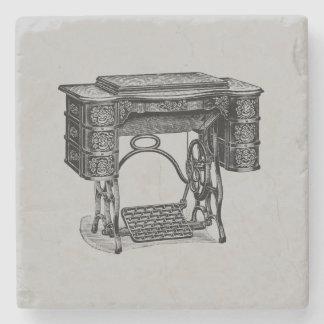 Vintage Sewing Machine Cabinet Stone Coaster