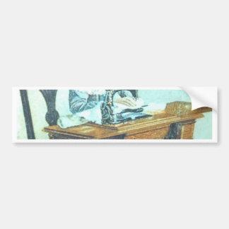 Vintage Sewing Machine Car Bumper Sticker