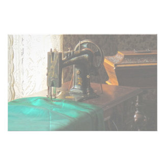 Vintage Sewing Machine Near Window Stationery