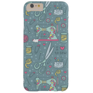 Vintage Sewing Machine Notions Crafts Barely There iPhone 6 Case