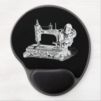 Vintage Sewing Machine Retro Machines White Black Gel Mouse Pad