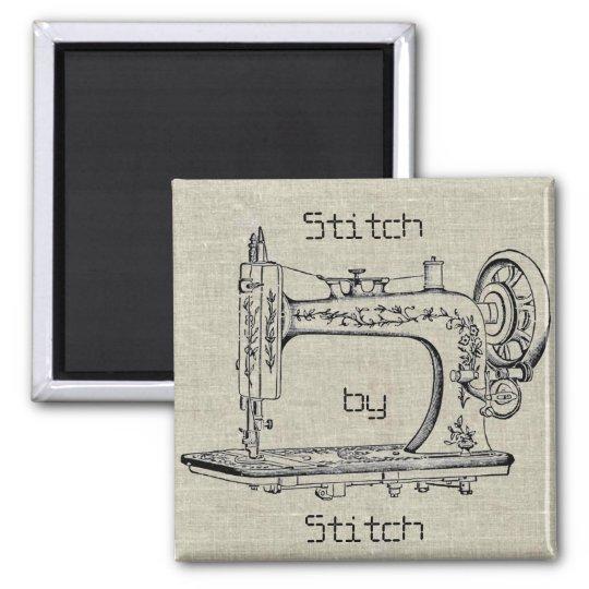 Vintage Sewing Machine Stitch by Stitch Magnet