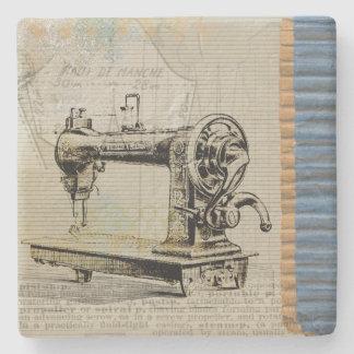 Vintage Sewing Machine Stone Coaster