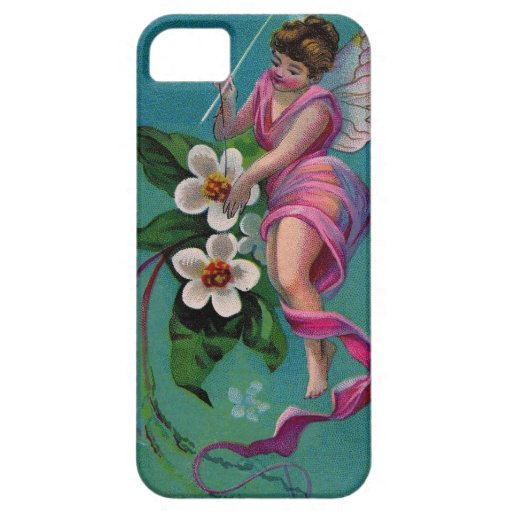 Vintage Sewing Needle Flower Fairy iPhone 5 Cases