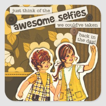 "Beach Themed ""Vintage Sewing Pattern Art"" Selfie Stickers"