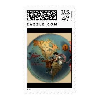 Vintage Sewing Postage Stamp