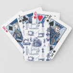 Vintage Sewing Toile Bicycle Playing Cards