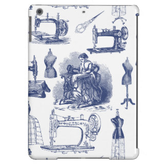 Vintage Sewing Toile Cover For iPad Air