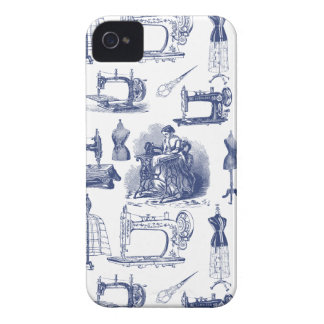 Vintage Sewing Toile iPhone 4 Covers