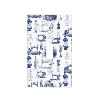 Vintage Sewing Toile Light Switch Cover