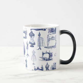 Vintage Sewing Toile Magic Mug