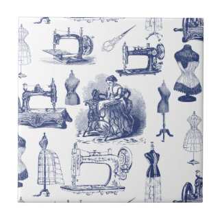 Vintage Sewing Toile Tile