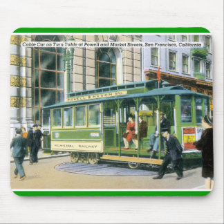Vintage SF Cable Car Mouse Pad