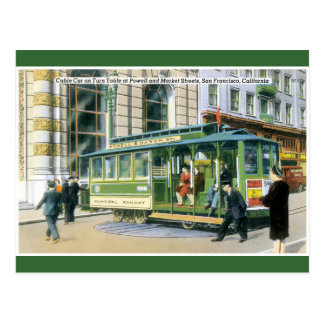 Vintage SF Cable Car Post Card