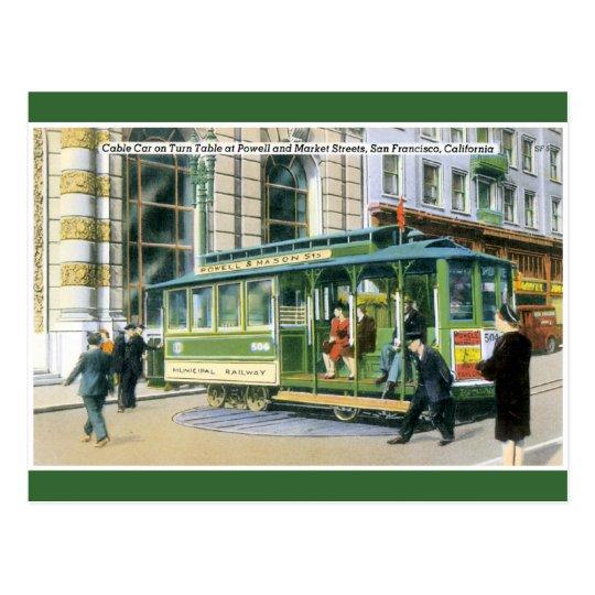 Vintage SF Cable Car Postcard