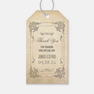 Vintage Shabby and Chic Wedding Thank You Gift Tags