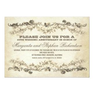 vintage shabby anniversary invitations