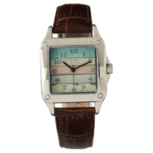 Vintage Shabby Beach Boards Rustic Decorative Wood Wrist Watch