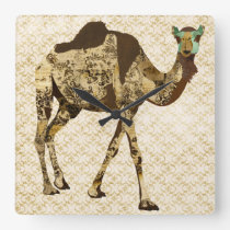 Vintage Shabby Camel Clock