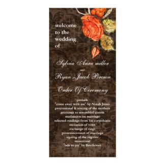 Vintage shabby chic Allure brown wedding program