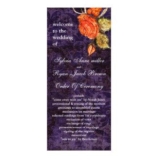 Vintage shabby chic Allure purple wedding program