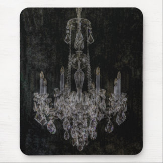 Vintage Shabby Chic Chandelier Mouse Pad