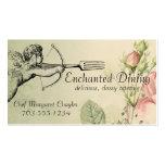 Vintage shabby chic cupid fork arrow chef biz card business card