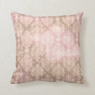 Vintage Shabby Chic Damask Pink Pillow