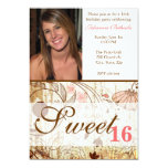Vintage Shabby Chic Floral Sweet 16 Invitation