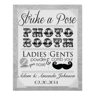 Vintage Shabby Chic Photo Booth Wedding Sign Print