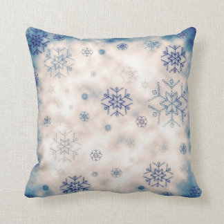 Vintage Shabby Chic Snowflake Pillow