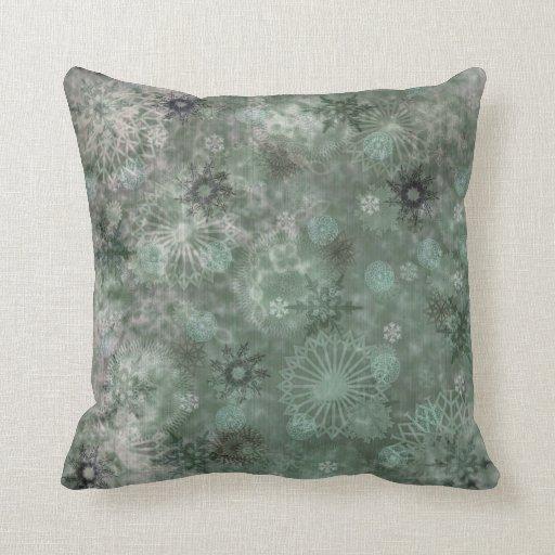 Vintage Shabby Chic Snowflake Pillow Zazzle