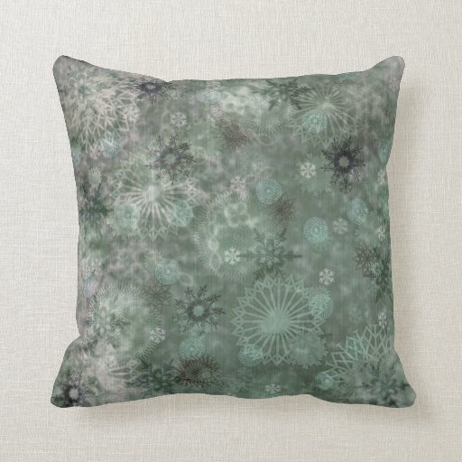 Vintage Shabby Chic Snowflake Pillow Zazzle